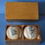 ジャイアンツ 王貞治さん、原辰徳さんの直筆サインボールをお譲り頂きました。