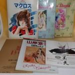 懐かしのアニメ画集や設定集などを約150冊お譲り頂きました。