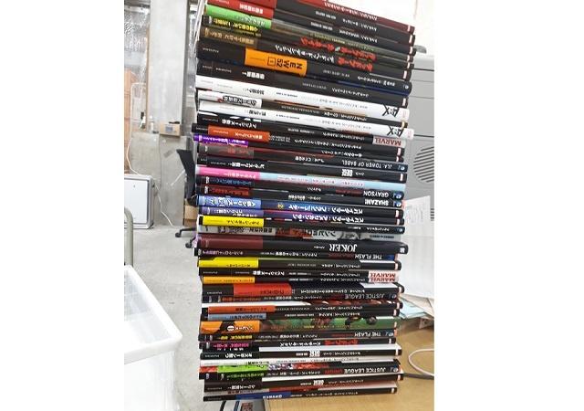 アベンジャーズのアメコミやイラストブックなど計400点をお売り頂きました。